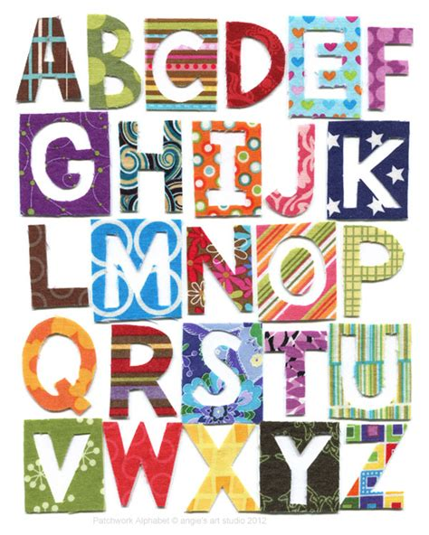 Patchwork Letters - patchwork alphabet and numbers angie s studio