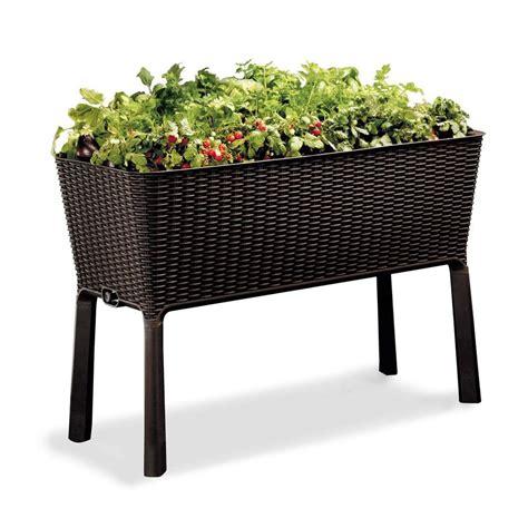 keter easy grow elevated garden bed shopyourway