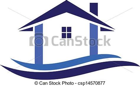 Multi Family Plans vectors illustration of house and waves logo vector