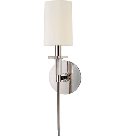 Hudson Valley Wall Sconce Hudson Valley 8511 Pn Amherst Polished Nickel 1 Light Wall Sconce Ls