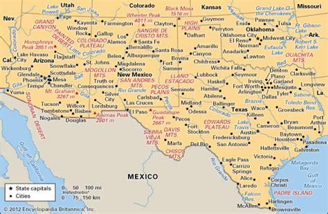 map of southwest usa united states the southwest encyclopedia children s homework help