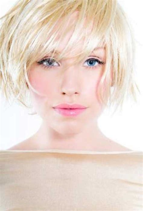 blonde straight bob haircut with wispy bangs hairstyle short bob haircuts for round faces bob hairstyles 2017