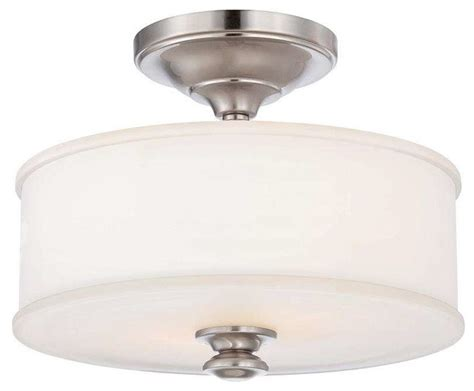 Ceiling Mounted Light Point Minka Lavery 4172 Harbour Point 2 Light Semi Flush Ceiling Fixture Liberty Gold Transitional