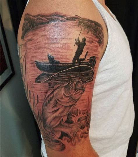 bass fishing by jason american tattoo studio