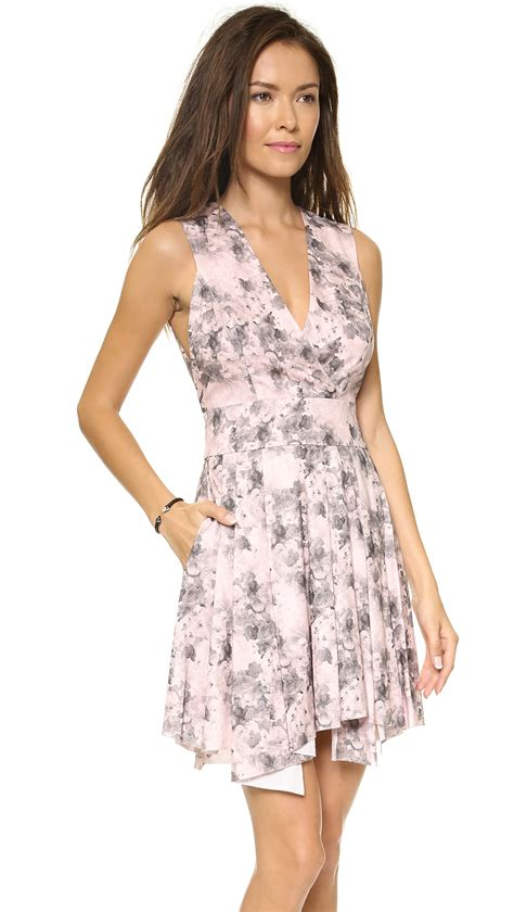 Floral Dress Santai Pink robert rodriguez floral summer dress pink floral in pink lyst