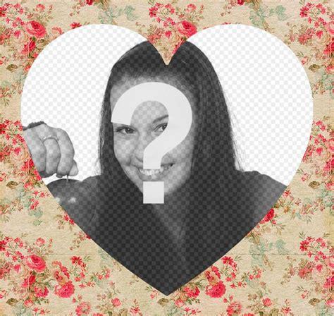 aggiungere cornice foto cornice decorativa con i fiori per aggiungere la foto