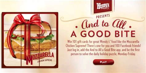 Wendy Gift Card Balance - enter to win wendy s gift cards who said nothing in life is free