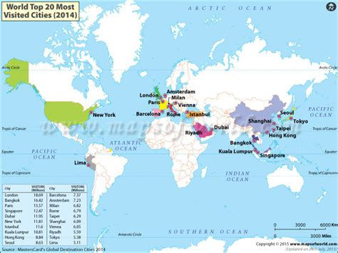 world map top cities top 20 most visited cities in the world
