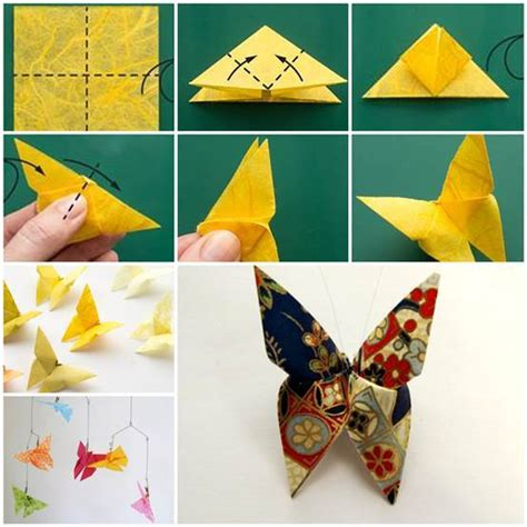 How To Make A Butterfly On Paper - diy beautiful origami butterfly