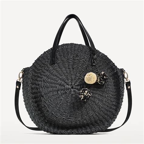 Zara Bag 4 zara zara black braided tote bag with pompoms from s closet on poshmark