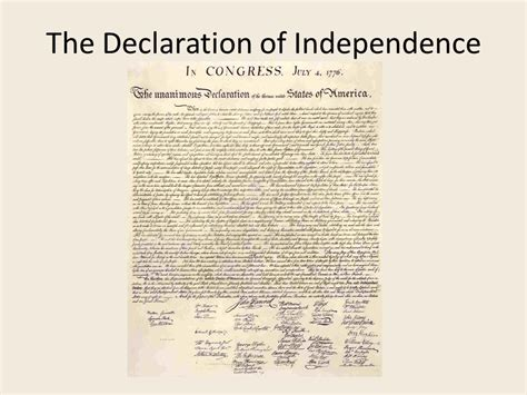 why was the declaration of independence written the declaration of independence ppt video online download