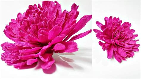 crepe paper flower tutorial youtube dahlia crepe paper flower diy making tutorial paper