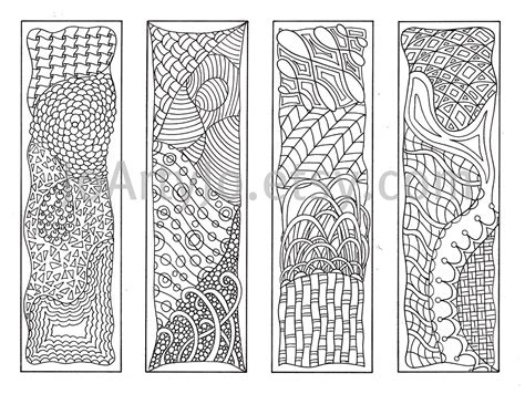 printable aboriginal bookmarks bookmarks to color zentangle inspired zendoodle art