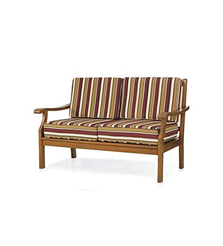Teak Patio Furniture Cushions Claremont Eucalyptus Teak Sofa With Cushions