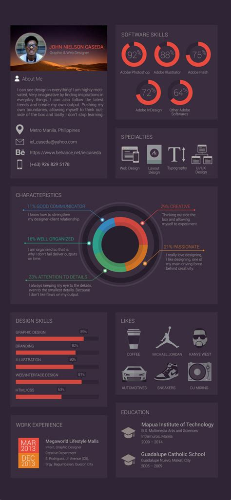 sample resume for architecture student 30 outstanding resume designs you wish you thought of