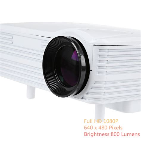 Proyektor Mini Led 640 X 480 Pixel 80 Lumens With Tv Receiver Gp7s h80 projector 640 x 480 pixels 800 lumens hd