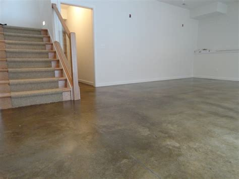 Stained Concrete Basement Floor Modern Basement Concrete Basement Floor Ideas
