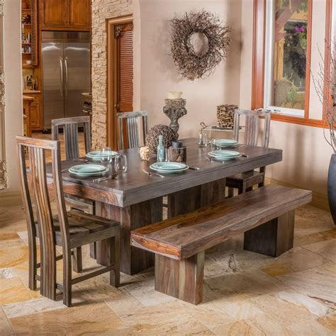 Christopher Dining Room by Christopher Home Russett And Grey Toned Dining