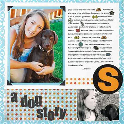 scrapbook layout ideas for pets scrapbooking