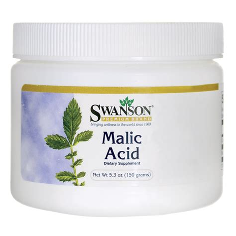 Malic Acid Brain Detox by Swanson Premium Malic Acid 5 3 Oz 150 G Pwdr Swanson