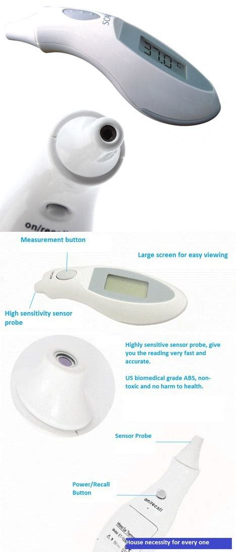 Ear Thermometer Malaysia portable digital infrared ear thermometer with lcd display