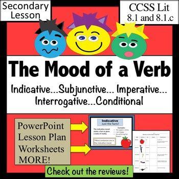 Verb Moods Worksheet by Verb Moods Lesson Plus By Kroll Teachers Pay Teachers