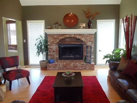 paint colors for living room with brick fireplace modern house