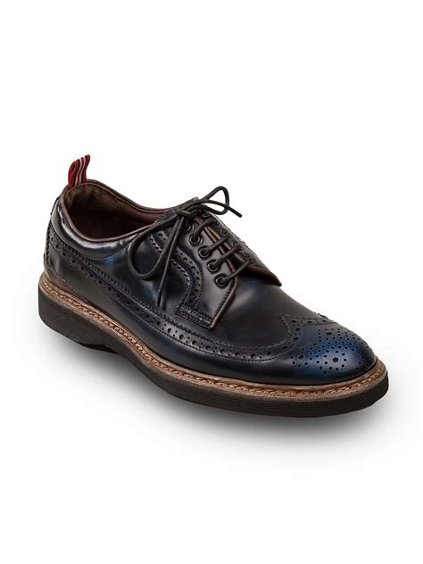 george shoes green george cordovan derby shoes in blue for lyst