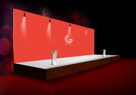 backdrop design psd free event expo backdrop mock up psd