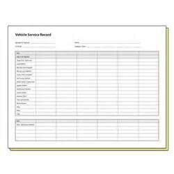 Service Record Template by Vehicle Service Record Form Images Frompo