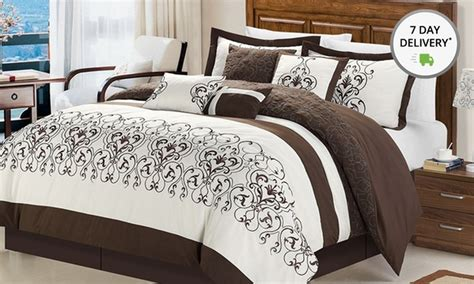 overfilled and oversized 8 comforter sets deal of