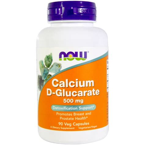 Calcium D Glucarate Detox Mercury by Now Foods Calcium D Glucarate 500 Mg 90 Veggie Caps Na