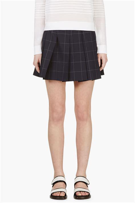Asymmetric Flap Mini Skirt Navy jacquemus blue circle mini skirt clothing style