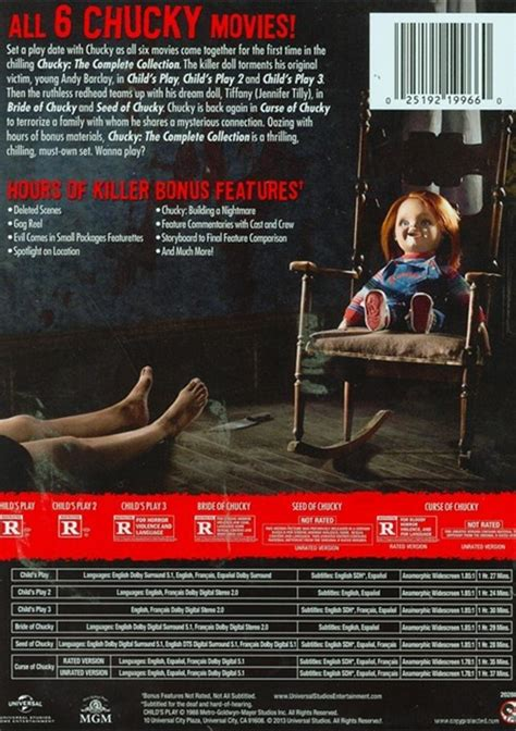 film ro3b chucky complet chucky the complete collection limited edition dvd