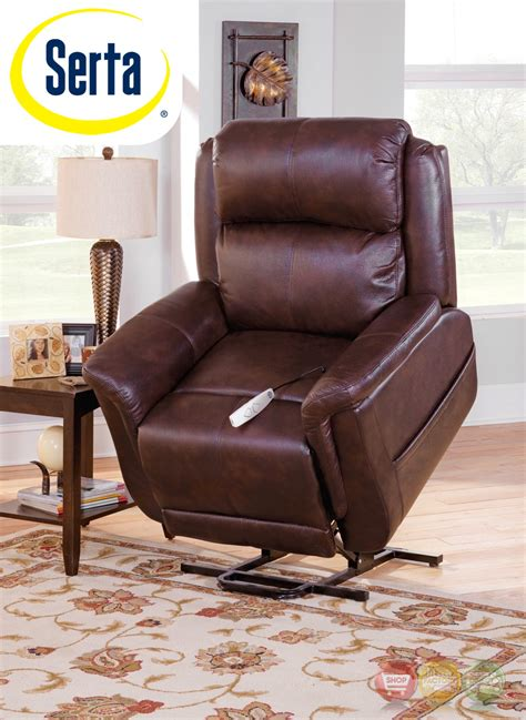 Serta Reclining Chair by Serta Comfortlift Norwhich Brown Wall Hugger Reclining