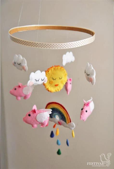 diy baby diy nursery mobiles diy felt flying pigs baby mobile