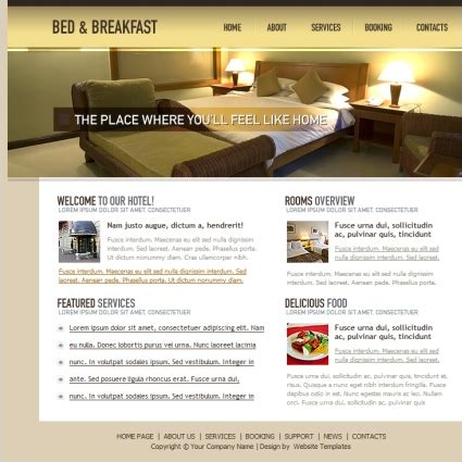 bed and breakfast website bed breakfast template free website templates in css