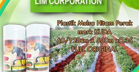Jual Mulsa Plastik Hitam Perak Kabupaten Sidoarjo Jawa Timur kami menjual plastik mulsa hitam perak merk kuda jual