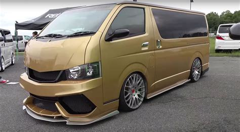 toyota vans two toyota hiace vans get lamborghini bumpers and paint