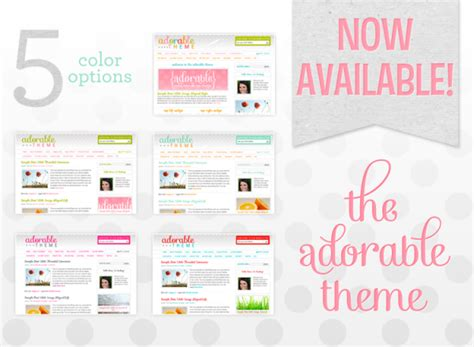 cute themes wordpress free adorable wordpress theme now available pretty darn cute