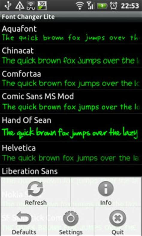 font style changer for android font changer lets you change android fonts