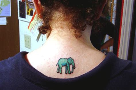 elephant tattoo neck 35 meaningful elephant tattoo designs will surprise you