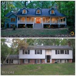 Tri Level Curb Appeal - 20 home exterior makeover before and after ideas home stories a to z