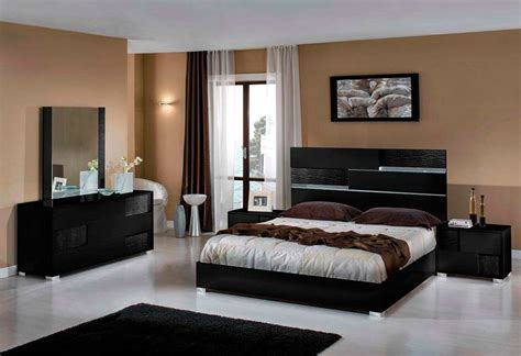 Bedroom Furniture Sets Modern | italian modern bed in black finish vg ansel modern