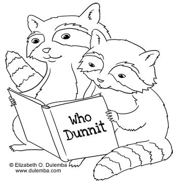 reading dog coloring page dulemba coloring page tuesday reading raccoons