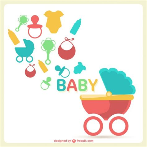 baby shower vector free