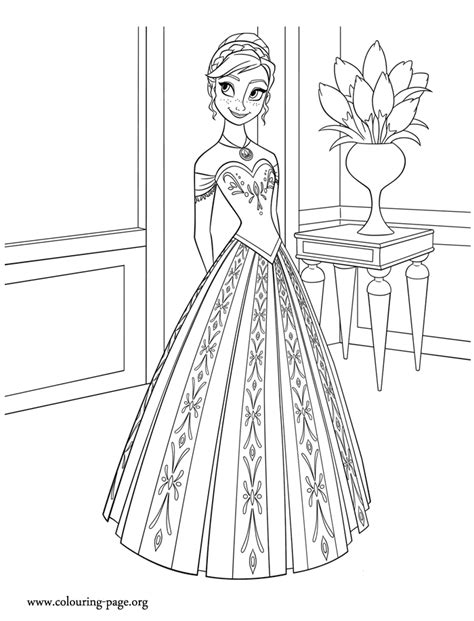 frozen anna princess of arendelle coloring page