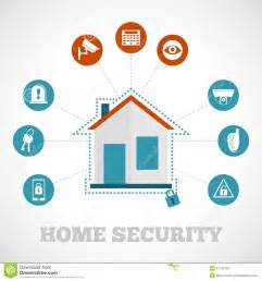 home security icon flat stock vector image of lock