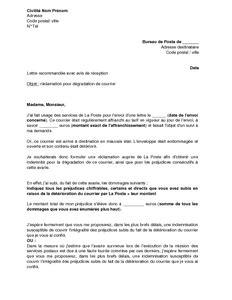 Exemple Lettre De Blâme Exemple Gratuit De Lettre R 233 Clamation 224 Poste D 233 T 233 Rioration Un Courrier En Suivi