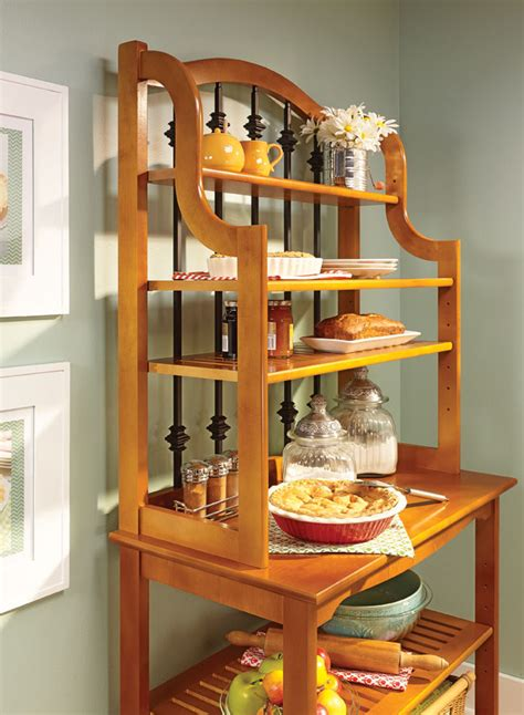 traditional bakers rack woodworking project woodsmith